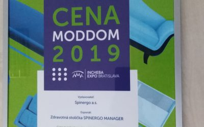 Spoločnosť Spinergo a.s. bola ocenená na výstave MODDOM 2019